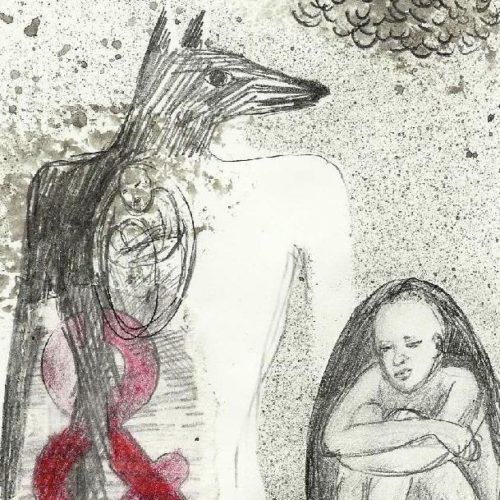 tekeningen 2009 Anubis waiting 1