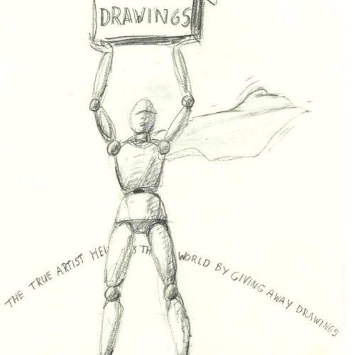 1000 drawings Artist Superman