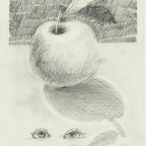 1000 drawings: stilleven met appels