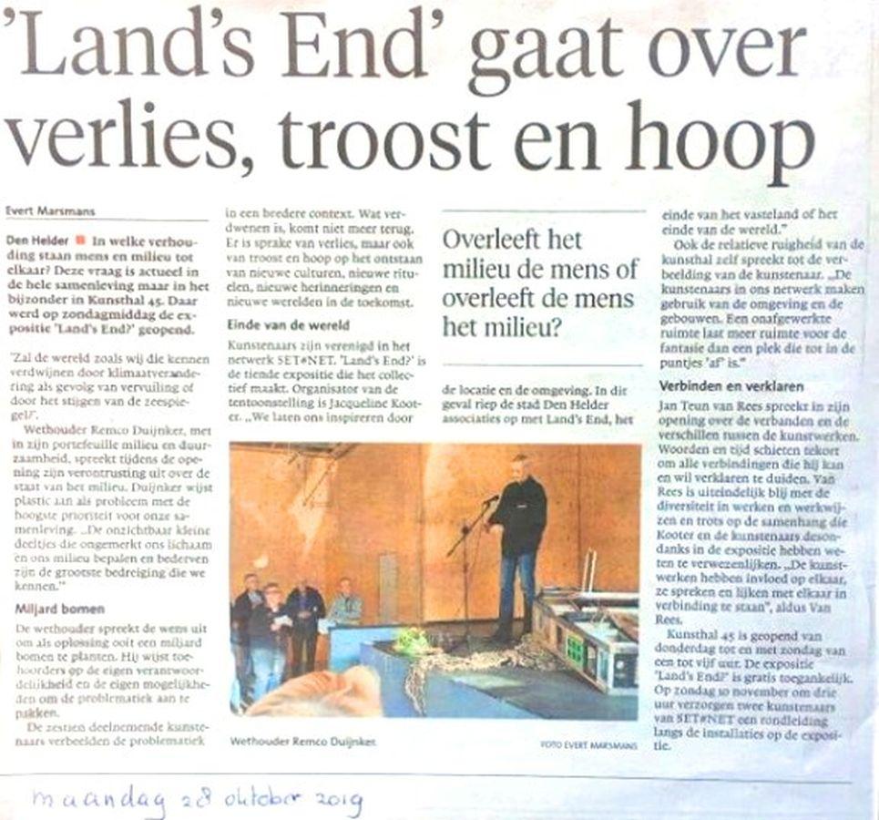 recensie Noord Hollands Dagblad 28-10-2019