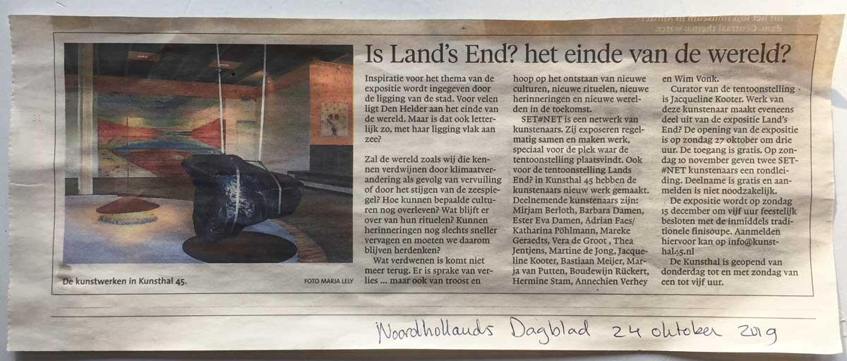 recensie Noord Hollands Dagblad 24-10-2019