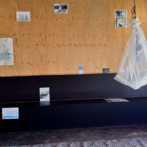 to leave, to be left (detail installatie)